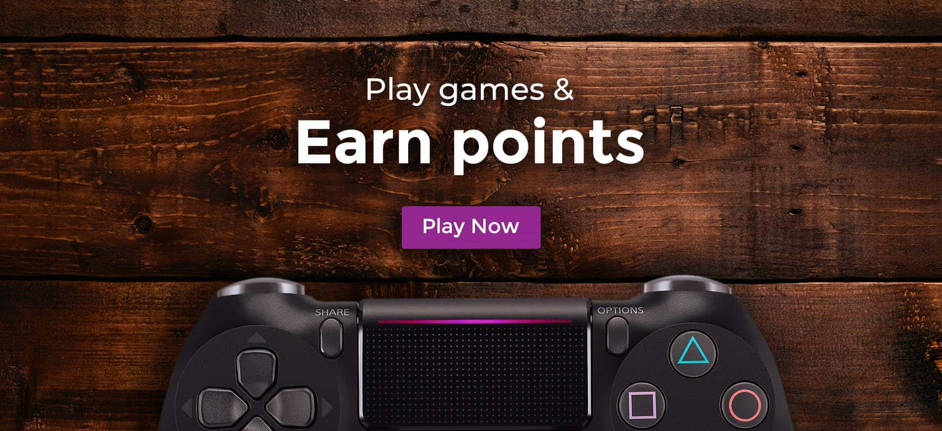 Play games and earn points