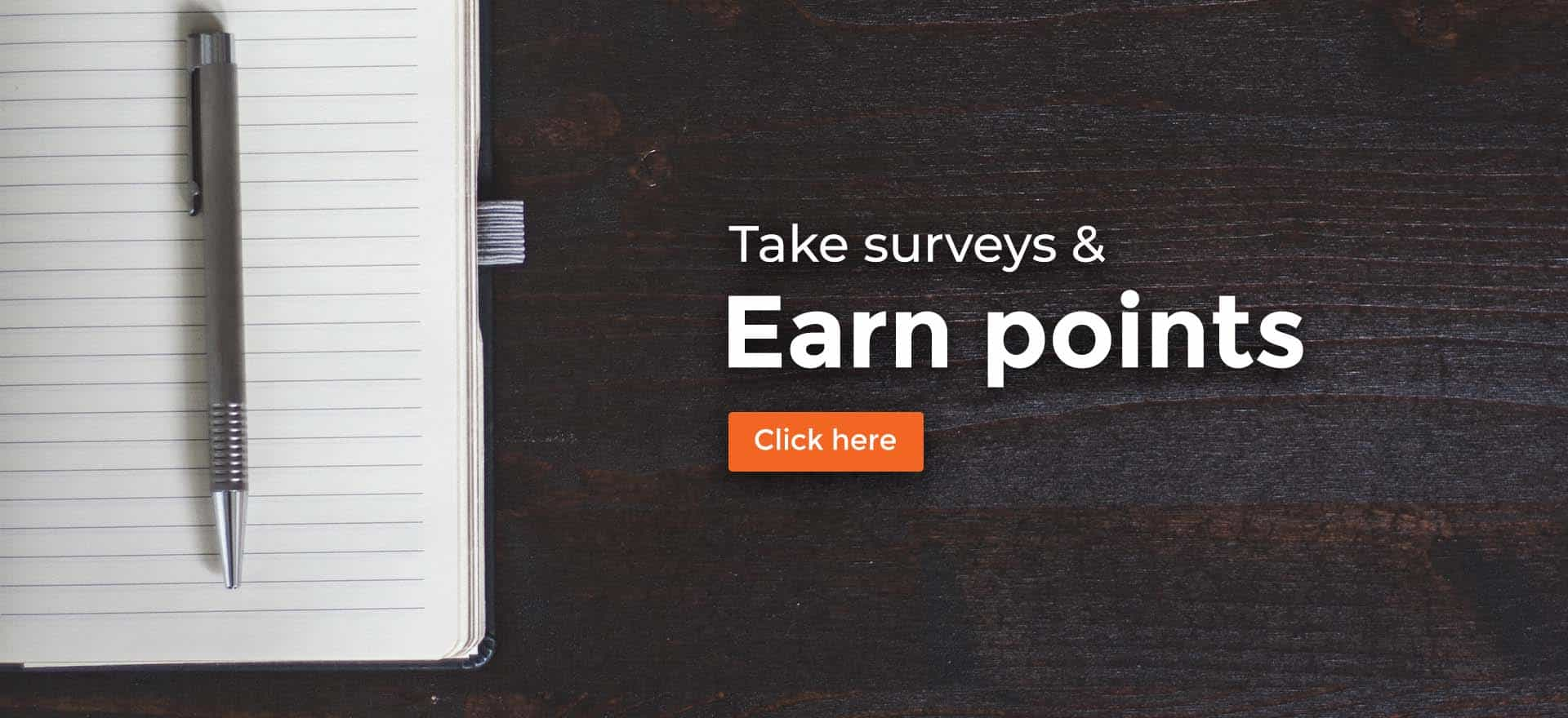 Take survey and earn points